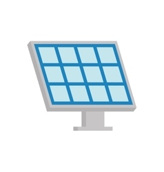 Solar panel ecology save renewable icon vector
