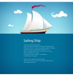 Yacht at sea  brochure design vector