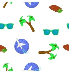 Tourism at sea pattern cartoon style vector