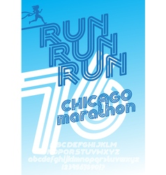 Chicago marathon run poster vector