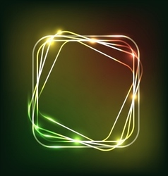 Abstract colorful neon background with rounded vector