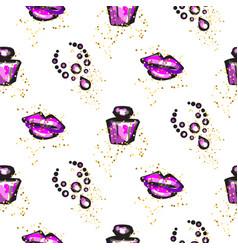 Purple and black glam chic feminine seamless vector
