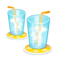 icon ice drink vector image