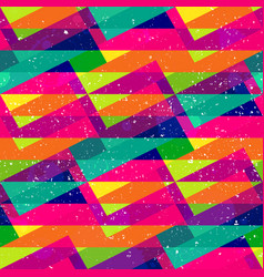rainbow triangle colored seamless pattern vector image