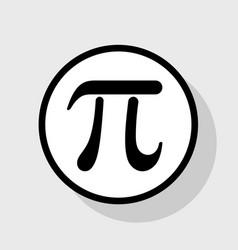 pi greek letter sign  flat black icon in vector image