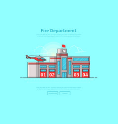 concept of fire department vector image