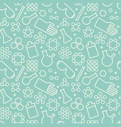 Doodle chemistry pattern vector