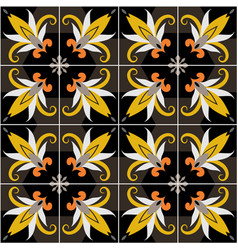 Ceramic tiles with seamless pattern vector