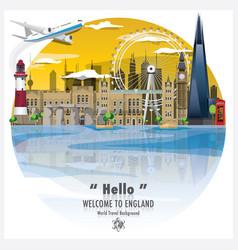 england landmark travel and journey background vector image