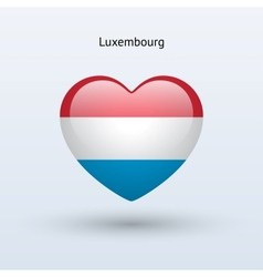 Love luxembourg symbol heart flag icon vector
