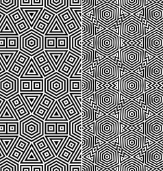 Two seamless patterns vector
