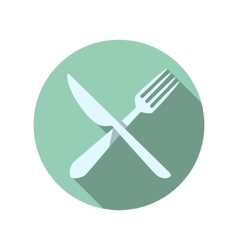 Fork and knife icons vector