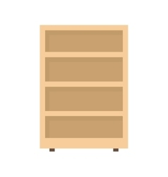 Shelves cabinet vector