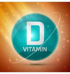 Vitamin d icon vector