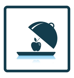 Icon of apple inside cloche vector