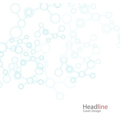 Abstract background with molecule structure vector