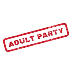 Adult party text rubber stamp vector
