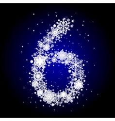Alphabet snow vector