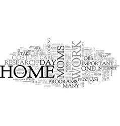 At home jobs for stay at home moms text word vector