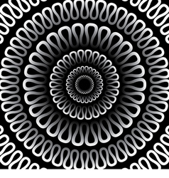 background Radial pattern on a black background vector image