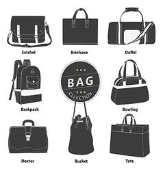 Bag 02 B W 01 vector image