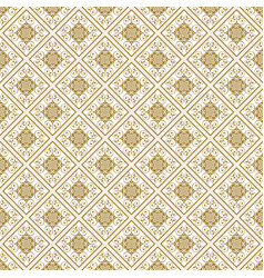 Beige abstract damask pattern background vector