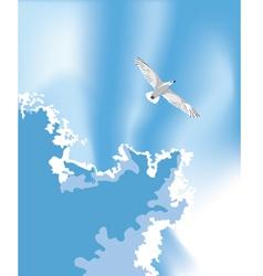 Bird in the summer sky vector