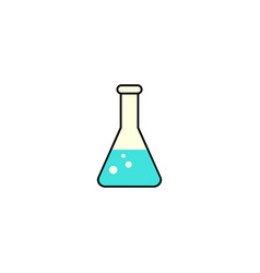 chemical solid icon laboratory glass sign vector image vector image