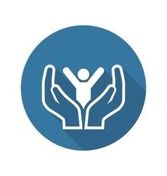 Child Care Icon Flat Design vector image