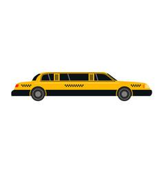 city road yellow taxi limousine transport vector image