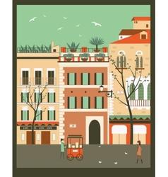 City street vector image