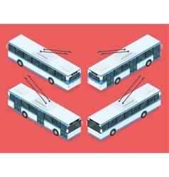 City trolleybus transport vector