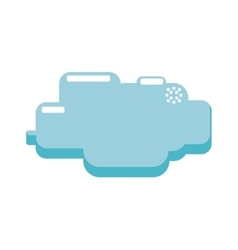 cloud pixel video game play icon graphic vector image vector image