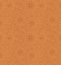 Copper seamless curved star pattern background vector