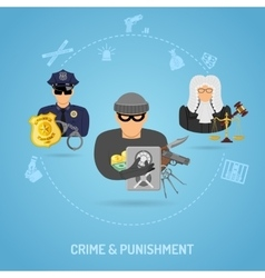 Crime and Punishment Concept vector image vector image
