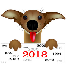 dog on white background vector image vector image