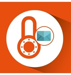 Envelope message email padlock security icon vector