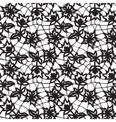 floral black lace vector image vector image