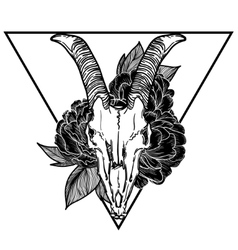 Goat skull occult symbol vector
