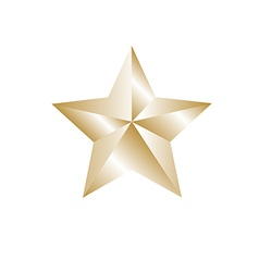Gold color star vector image