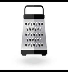 Grater metallic icon logo sign Kitchen equipment vector image vector image