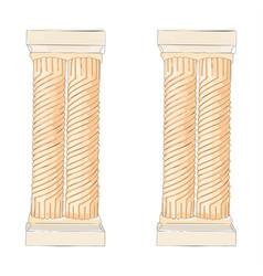 Greek doodle doric ionic corinthian columns vector