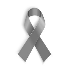 Grey ribbon symbol of borderline personality vector image