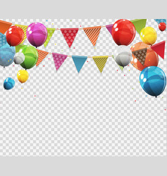 group of colour glossy helium balloons with blank vector image vector image