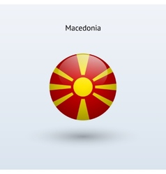 Macedonia round flag vector