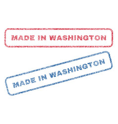 Made in washington textile stamps vector