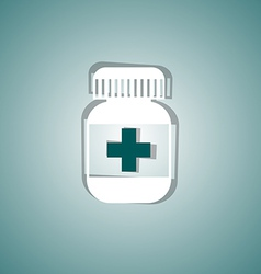 Medical pill vector image vector image
