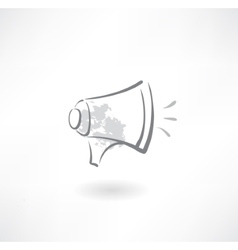 megaphone grunge icon vector image vector image
