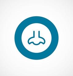 nose bold blue border circle icon vector image