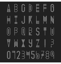 Original ethnic latin alphabet set vector